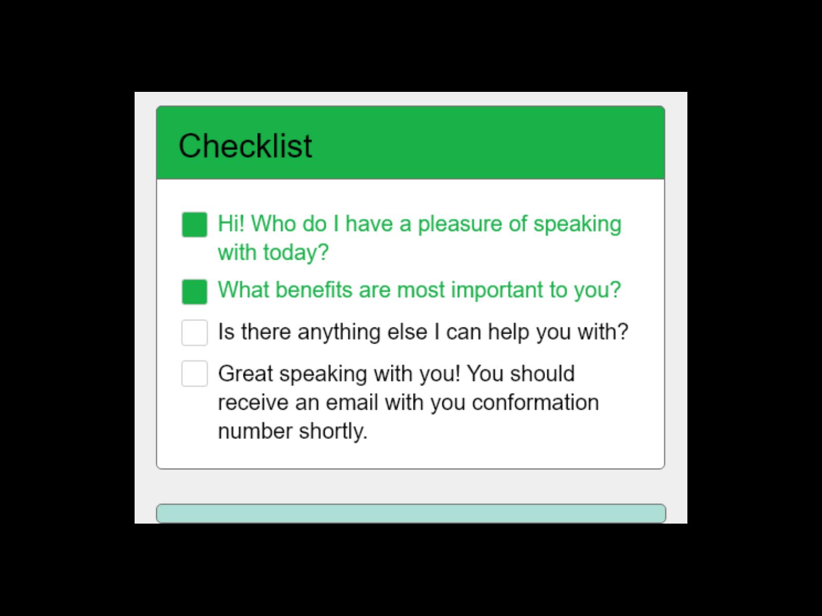 Smart Checklist