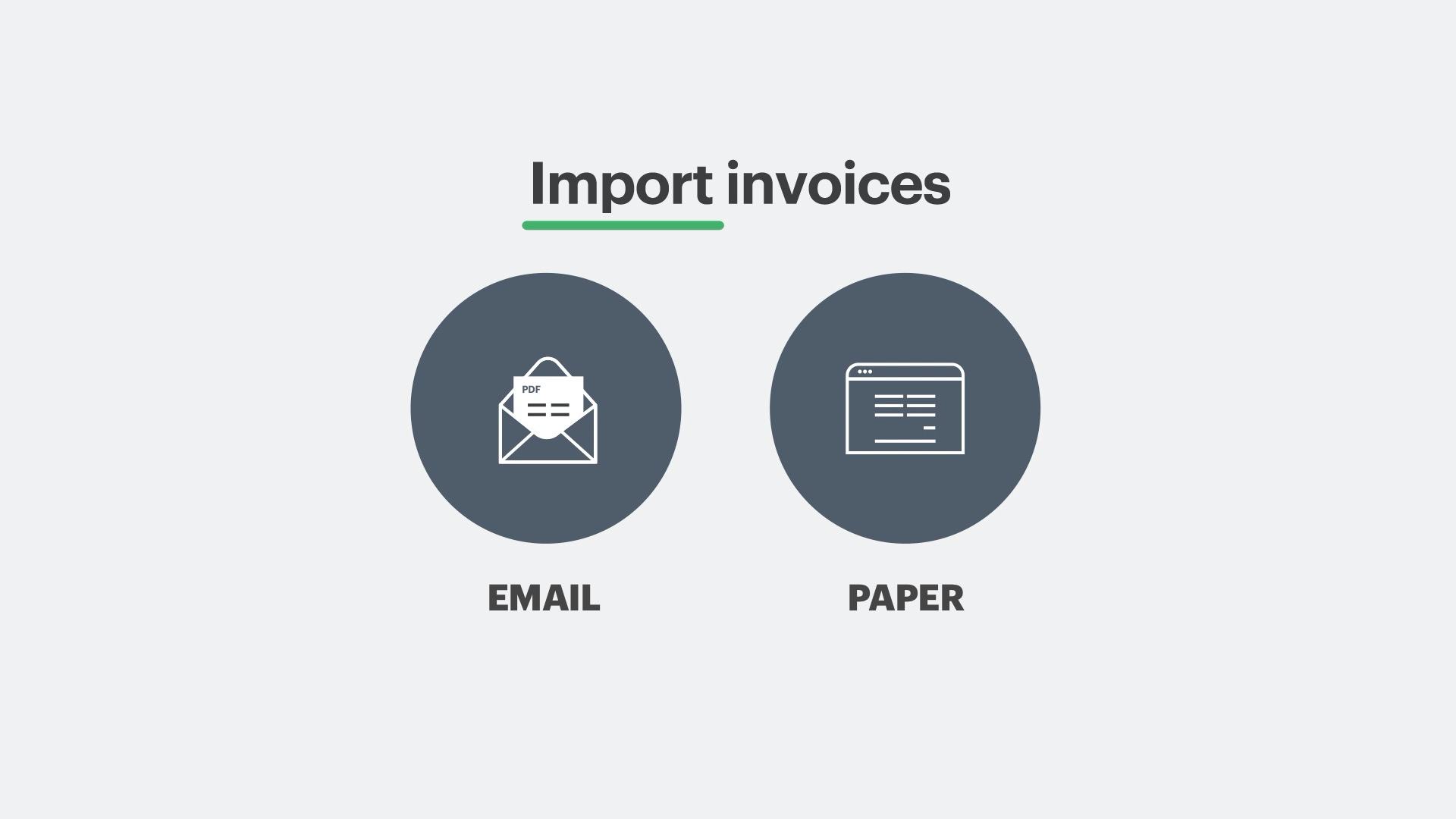 Captures invoice data from both paper and email