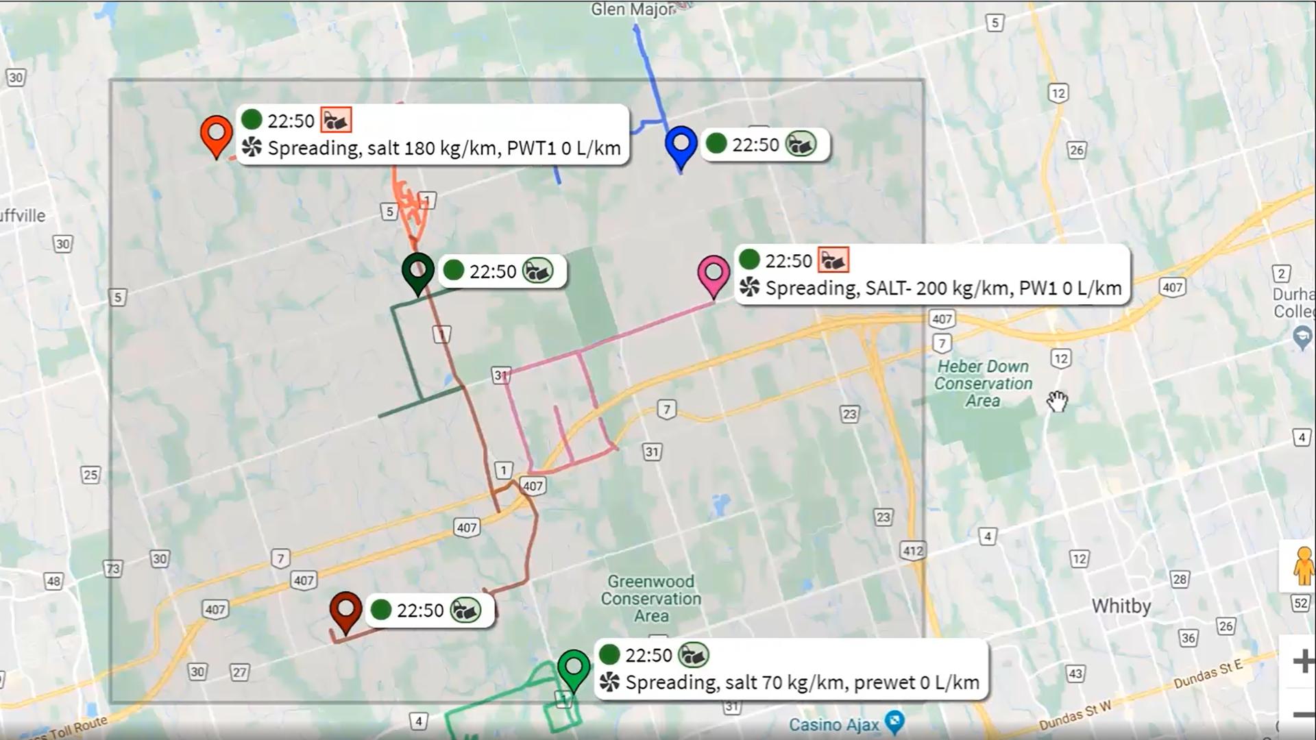 Monitor route progress