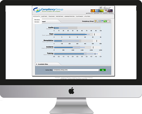 HIPAA Compliance Software screenshot: HIPAA Compliance Dashboard