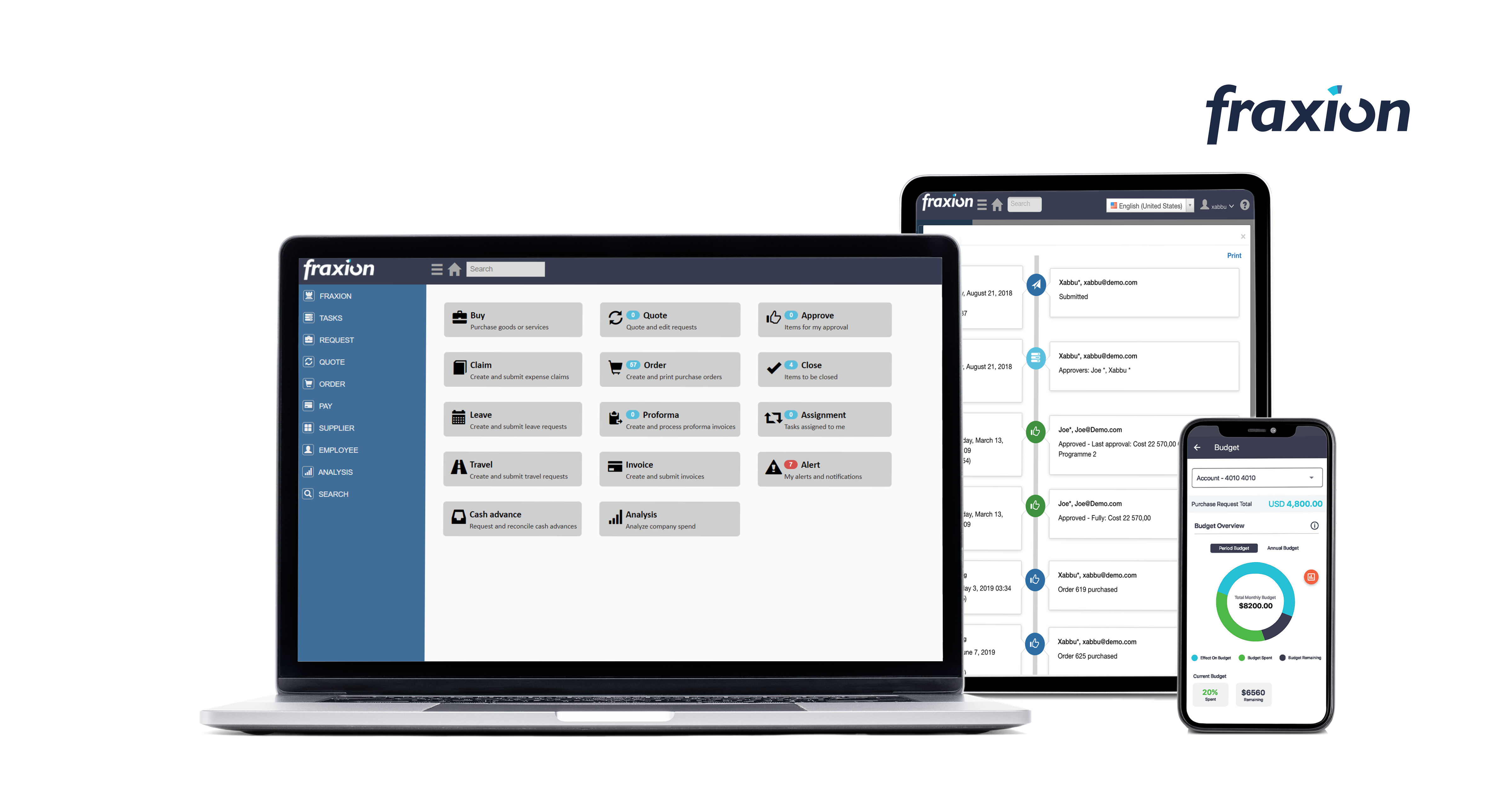 Fraxion Software - Spend visibility, audit trails and internal controls