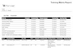 Captura de pantalla de QT9 QMS: Employee Training Matrix Included