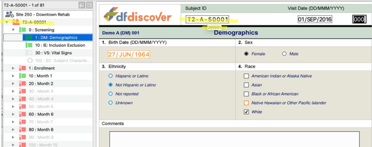 DFdiscover add demographic information