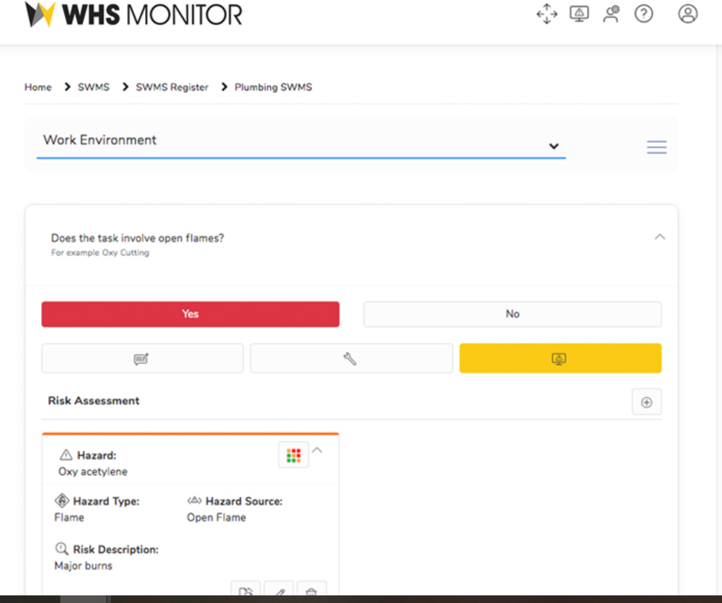 WHS Monitor Software - WHS Monitor safety records
