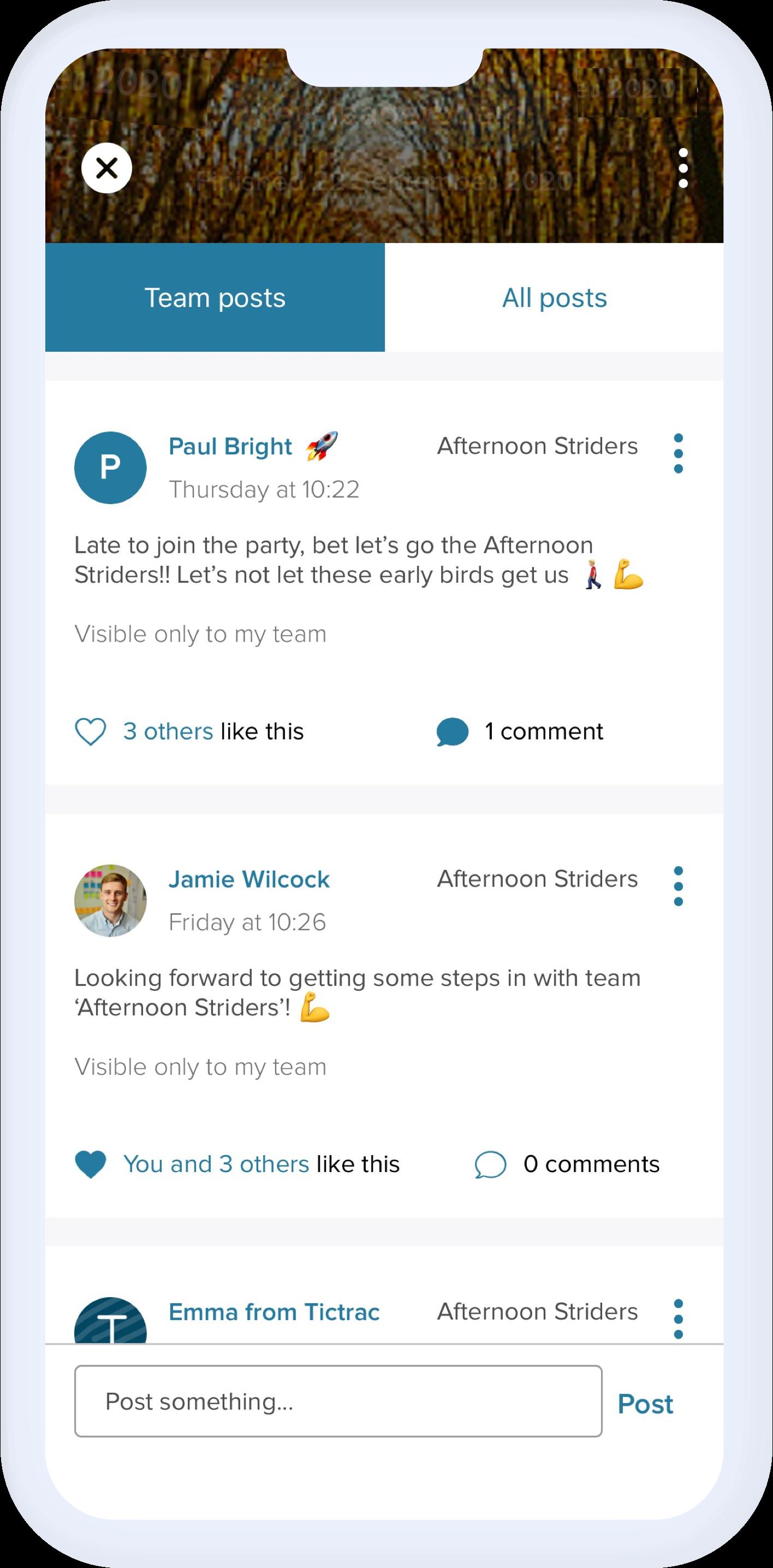 Team challenge chat