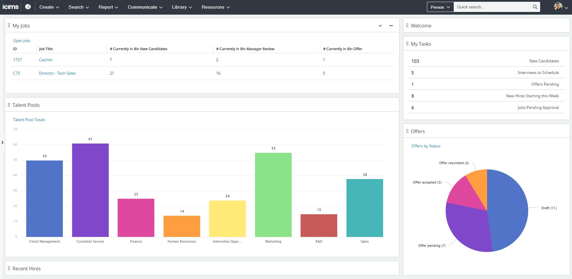 iCIMS Talent Cloud screenshot