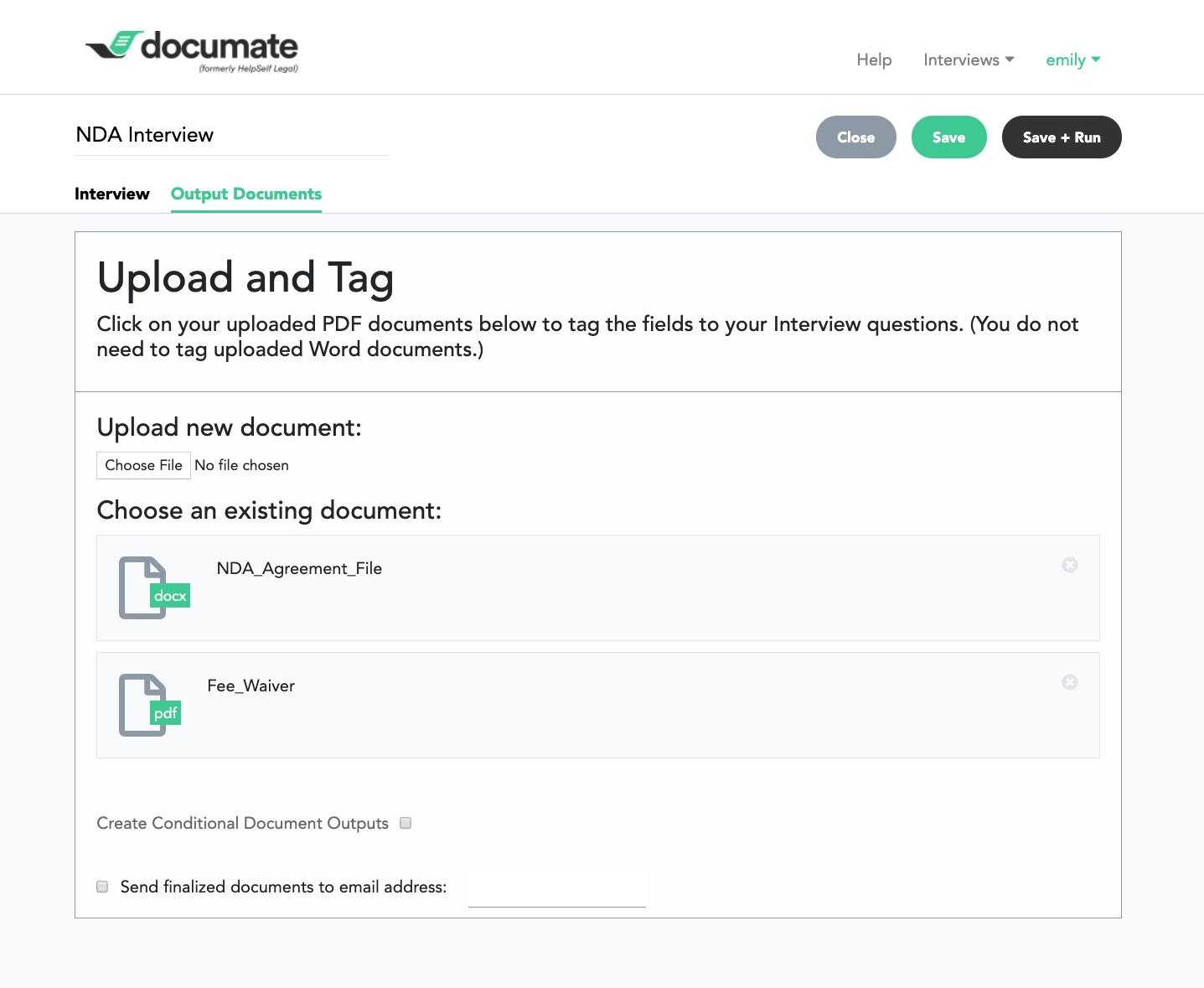 Documate Software - Documate output documents