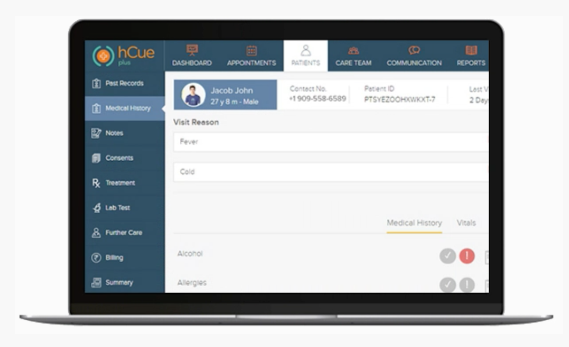 hCue Pharmacy Software Software - Manage appointments, capture critical patient data, & connect with pharmacies, hospitals & labs all from the same platform