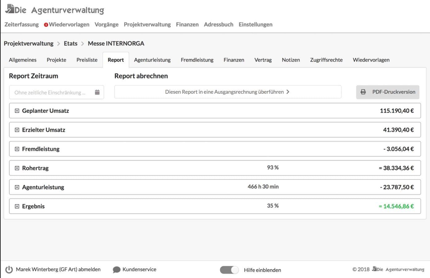 Die Agenturverwaltung Software - 1