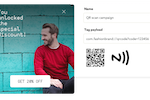 Notificare screenshot: Push notifications can be sent with QR codes and NFC tags
