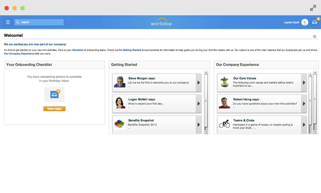 Workday Onboarding Feature
