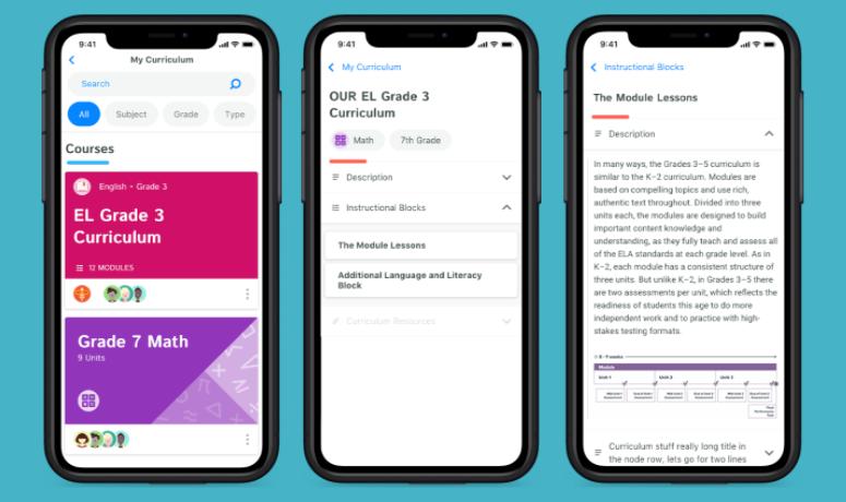 Kiddom Software - Curriculum Management Mobile