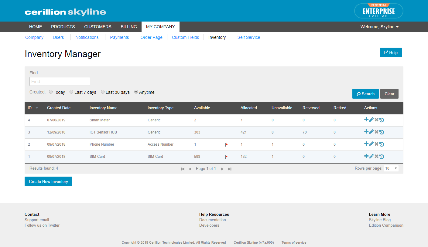 Inventory tool that helps with allocation of resources; search, perform and filter bulk changes.