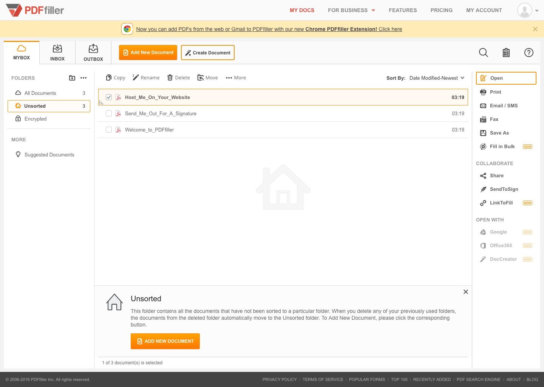 pdfFiller Document database