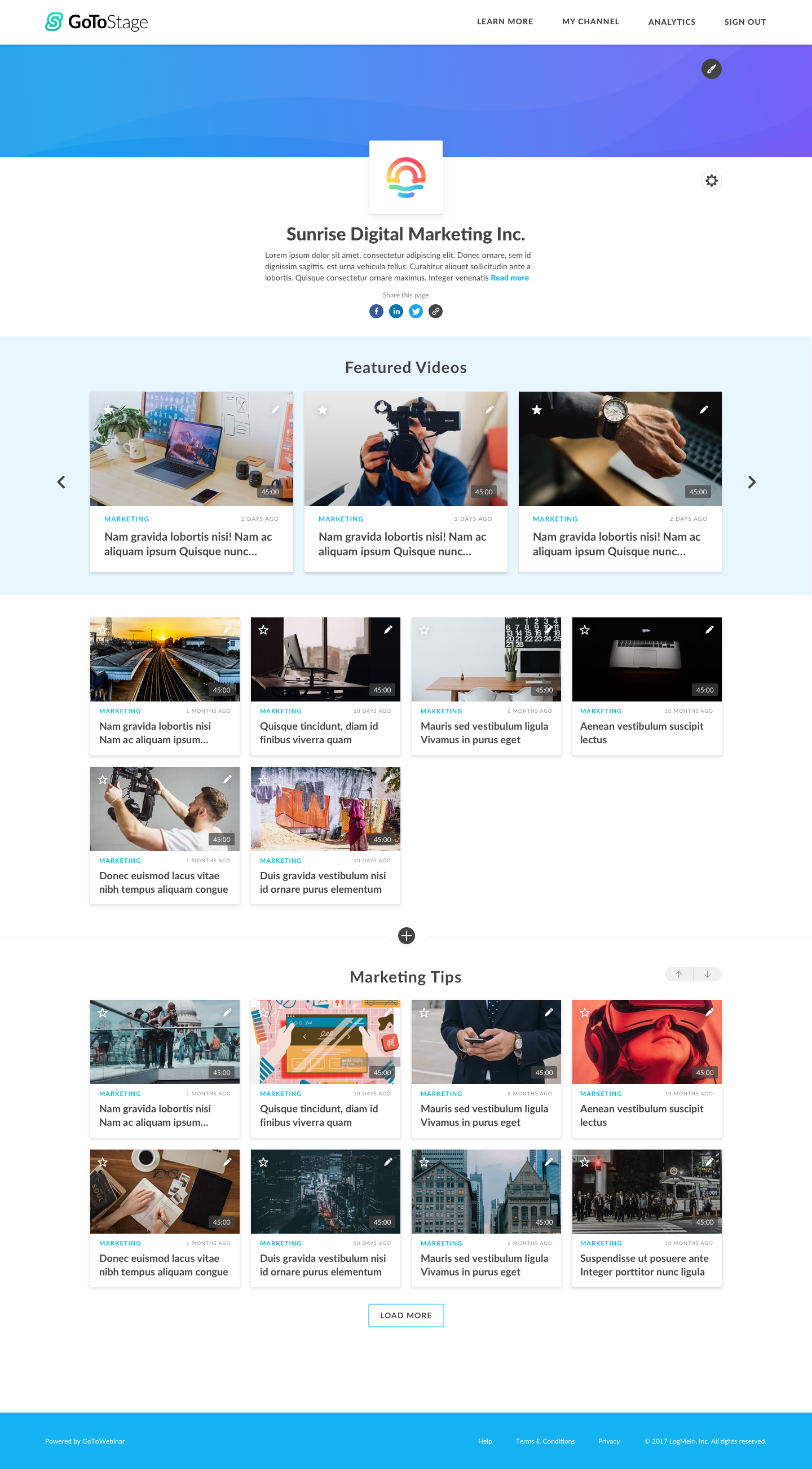 GoToWebinar video library