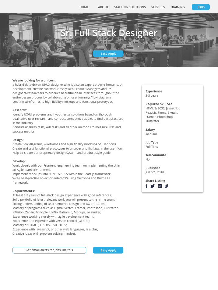 Live career page