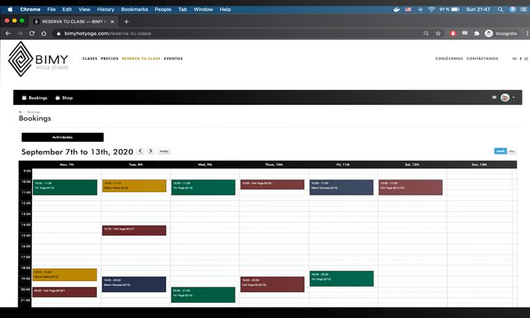 Resawod Software - Resawod activity schedule management