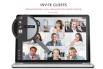 eyeson Screenshot: Allows users to invite guests or add participants during a meeting
