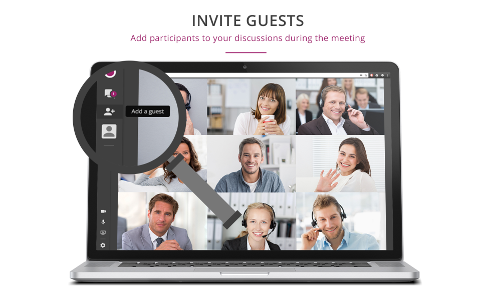 Allows users to invite guests or add participants during a meeting