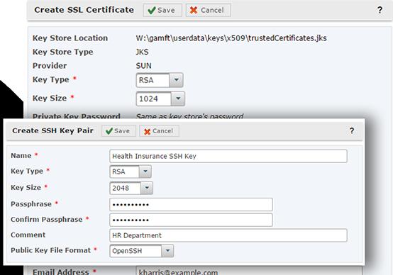 GoAnywhere MFT create SSL certificate