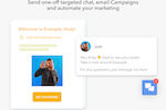 HelpCrunch Screenshot: Chat and email Campaigns
