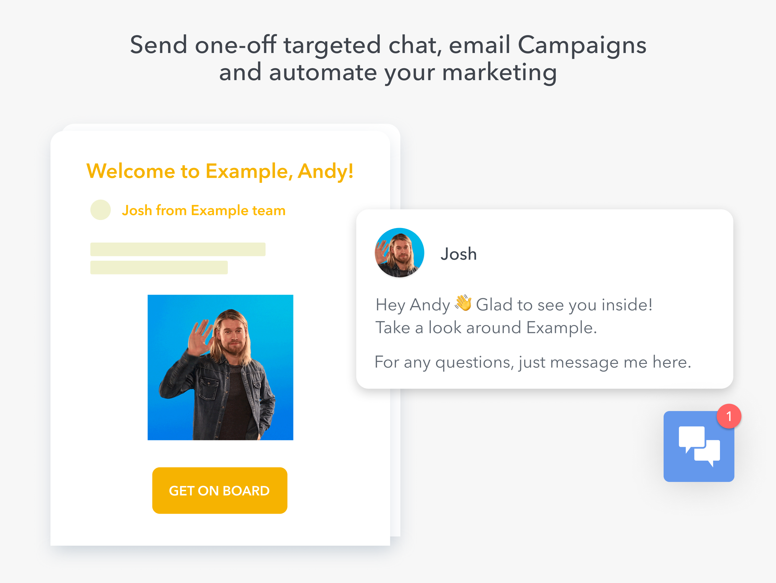 Chat and email Campaigns
