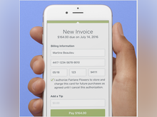 Square Invoices Software - Customer card details can be stored on file for future purchases