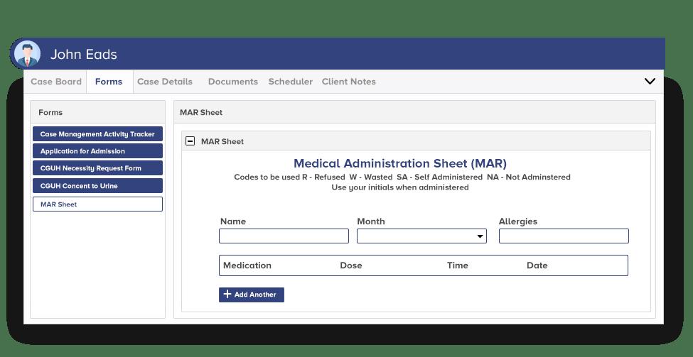 Medical Administration Sheet (MAR)