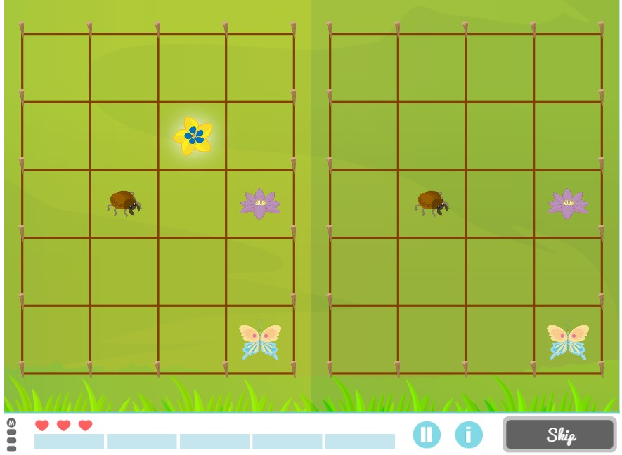 Mysterious Garden. Game to work on Spatial Relation