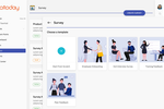 Xoxoday Empuls screenshot: Engagement pulse surveys with rich analytics, actionable insights, benchmarking, frequency etc with access to experts consultation. Templates like onboarding, exit, diversity, L&D from experts available for your use. Build & use custom templates.