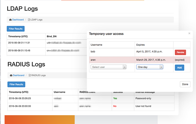 Log LDAP and RADIUS requests for greater visibility into the most sensitive areas of infrastructure
