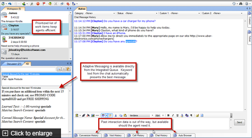 Genesys DX Software - Allows users to prioritize work items and access past interactions conveniently