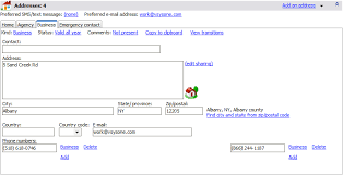 VSys One Software - VSys One address panel