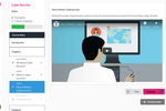 Synap screenshot: In-course experience including a video.