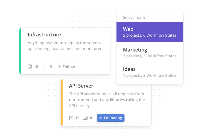 Clubhouse is adaptable and scalable enough to meet the development environment, with the ability to add multiple projects and teams as the setup expands