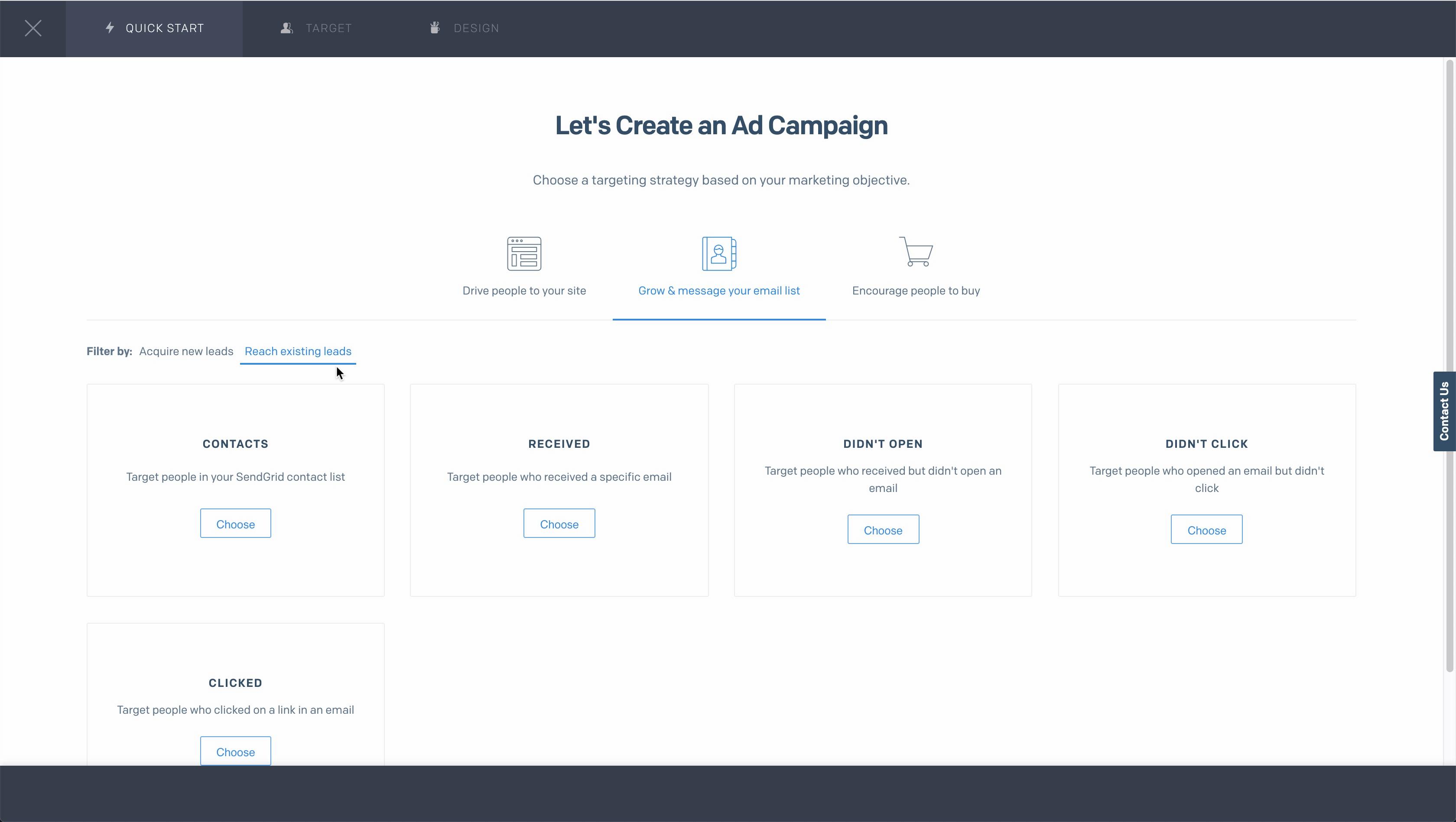 SendGrid campaign creation