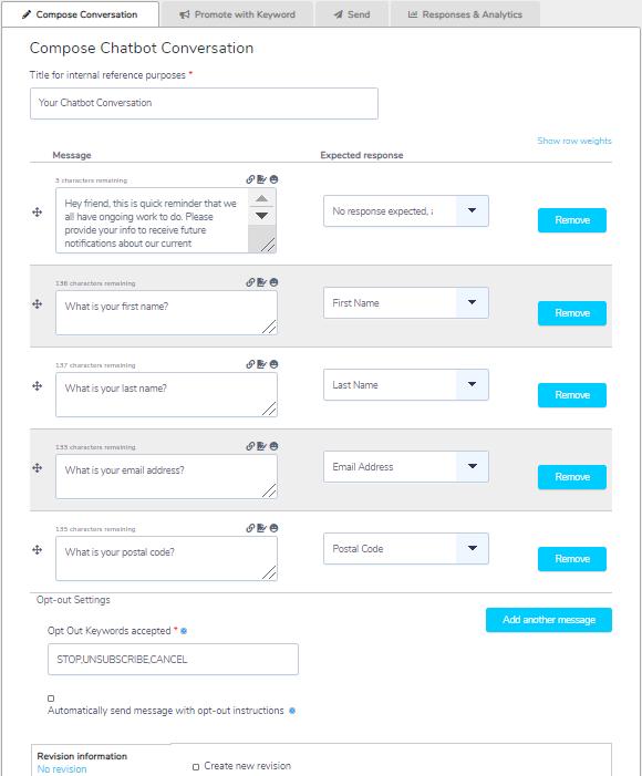 New/Mode chatbot conversation