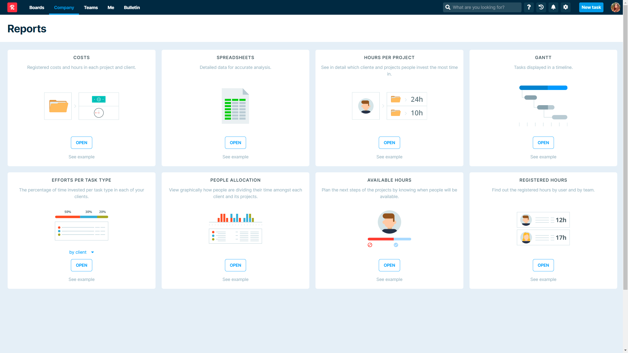 Track time invested in tasks, projects and processes delivered to clients. Use our AI-enabled widgets or build your own. Take Advantage of Time Intelligence.