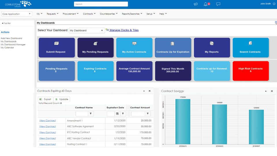 CobbleStone Contract Insight Software - User-Friendly Contract Insight® Dashboards