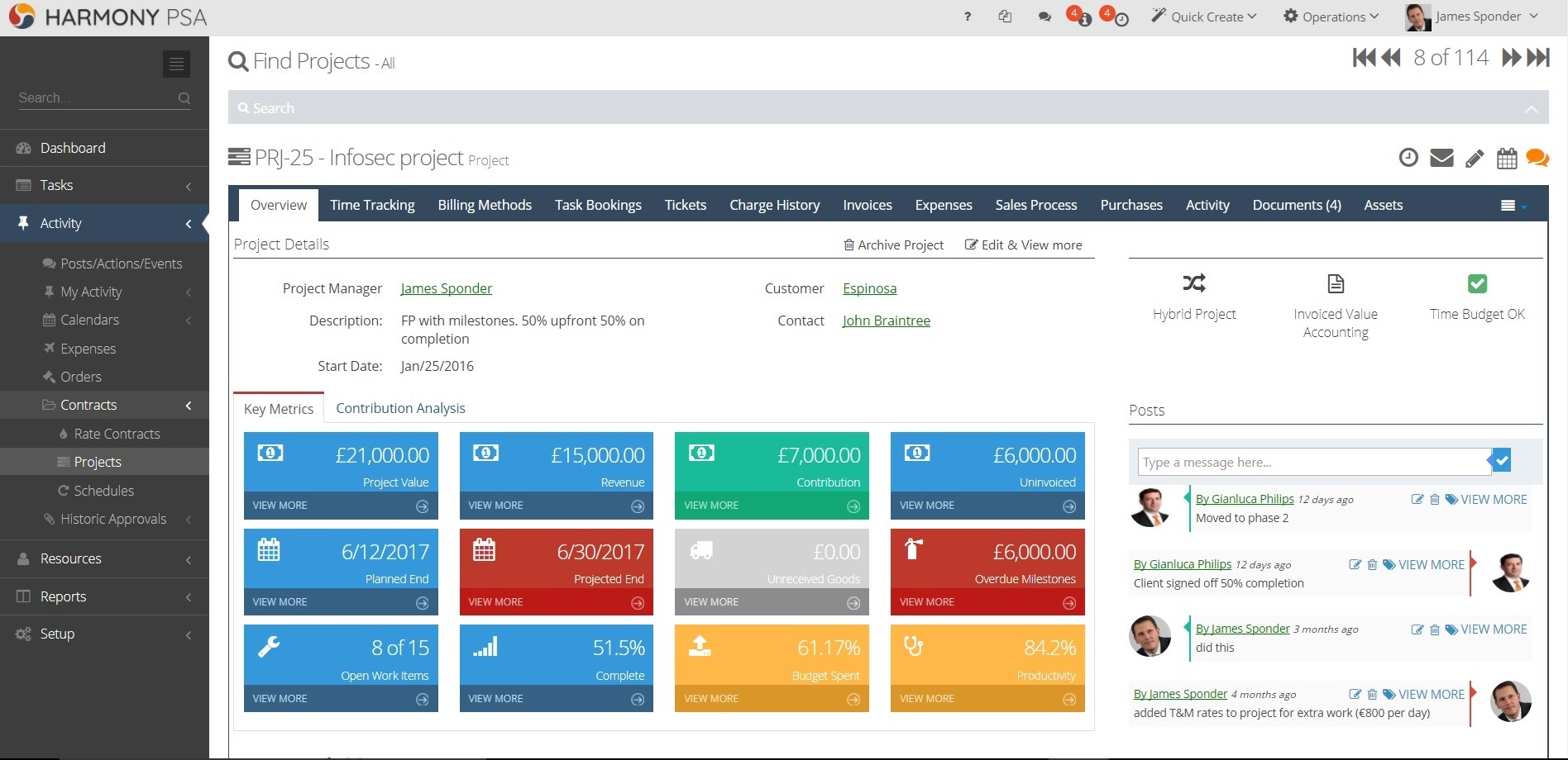 HarmonyPSA Software - The Harmony dashboard is designed to organise your, and your team's, day to day workload. Integrates with all popular calendar apps.