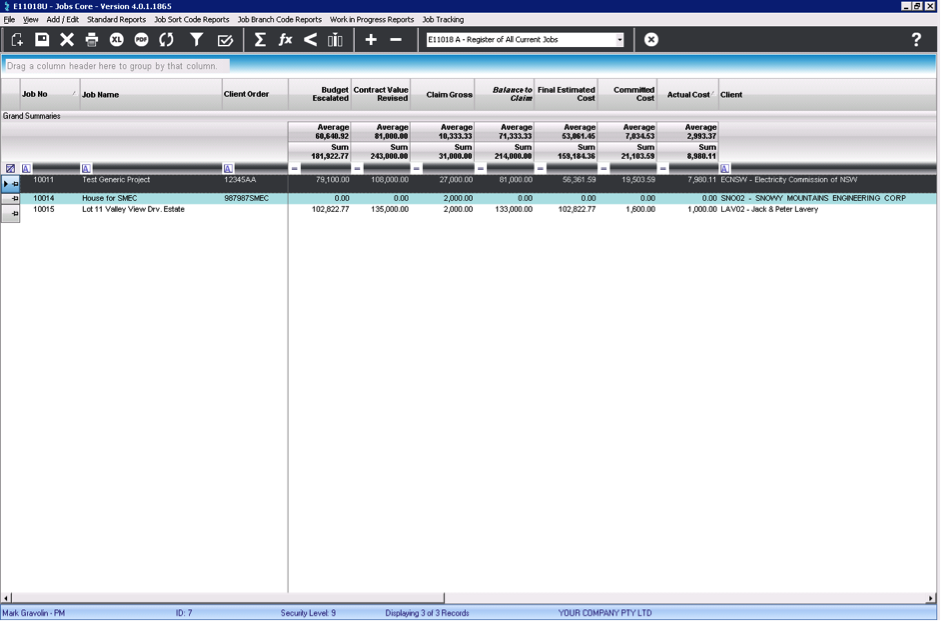 LEVESYS Software - Jobs tracking