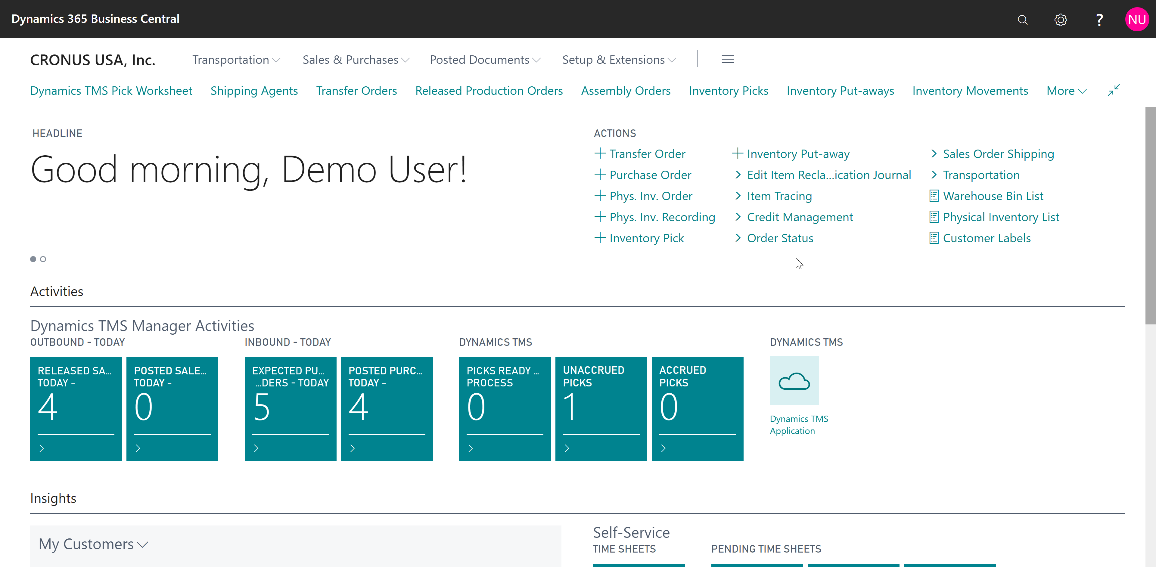 Dynamics TMS Software - Dynamics TMS Dashboard