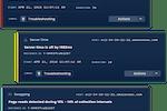 Blue Matador screenshot: Alerts, warnings, anomalies