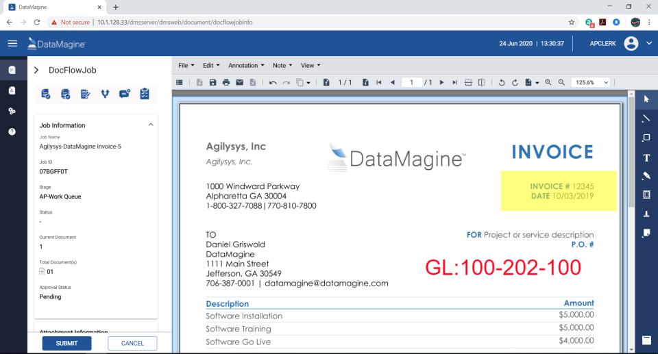 Agilysys DataMagine docflow