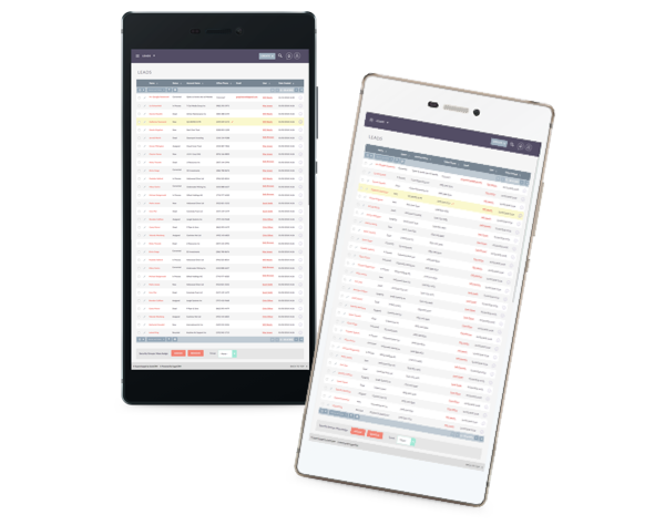 Lead lists and all other features can be accessed from mobile devices