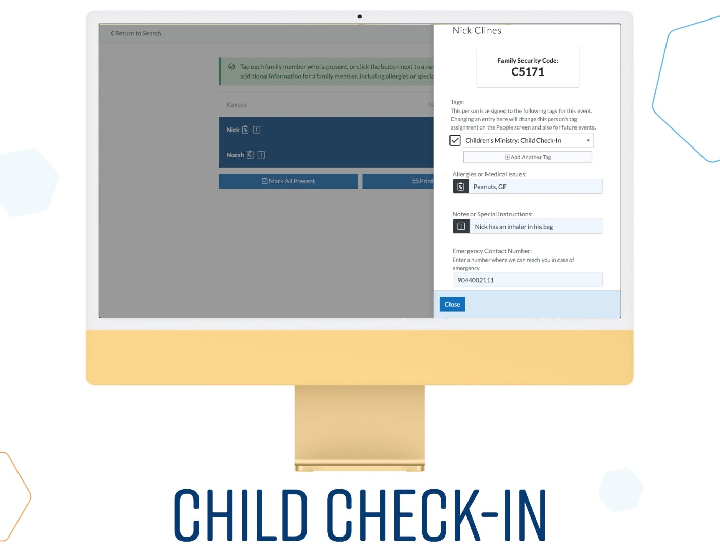 ChurchTrac Software - Child Check-In