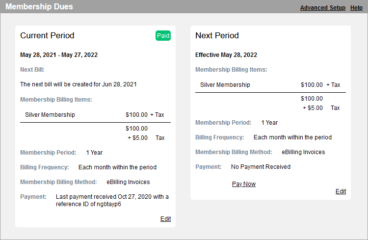 Membee Software - View and easily manage membership dues on your member profiles with a streamlined process.