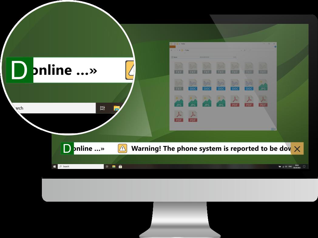DeskAlerts Software - DeskAlerts Scrolling Ticker