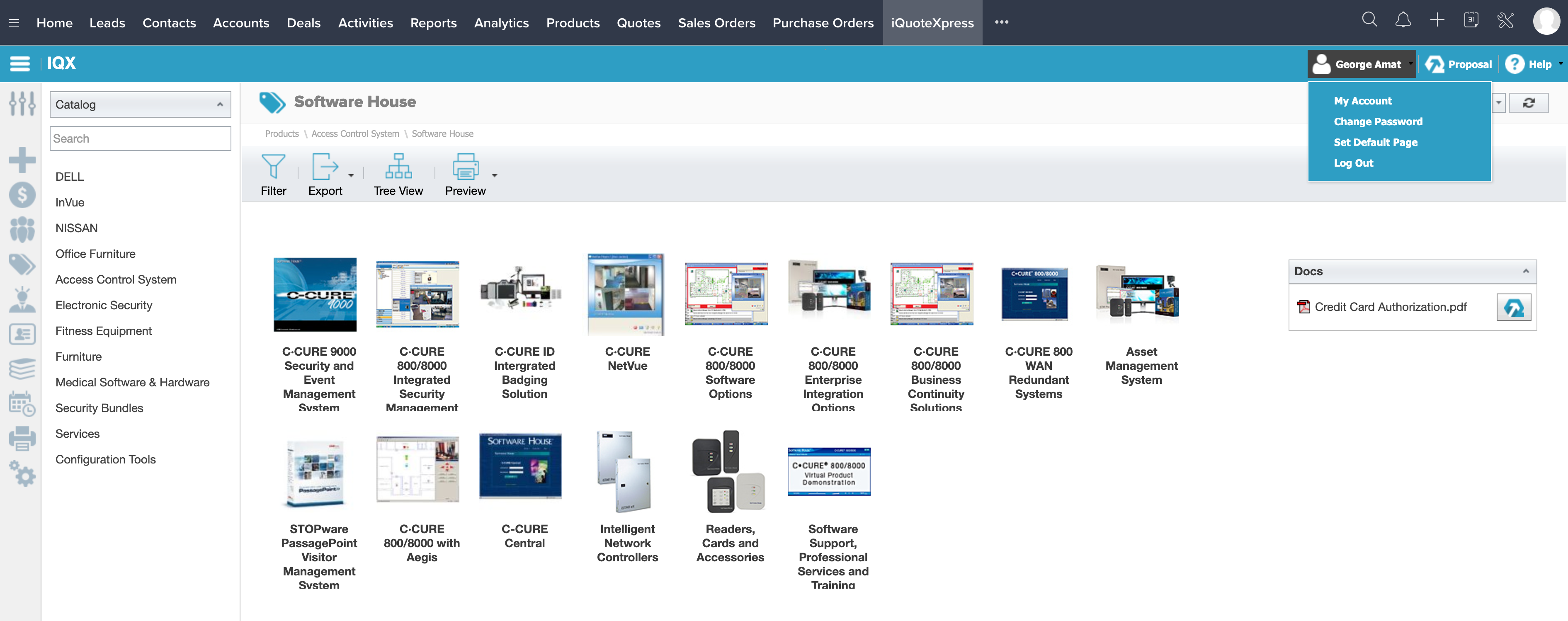 iQuoteXpress screenshot
