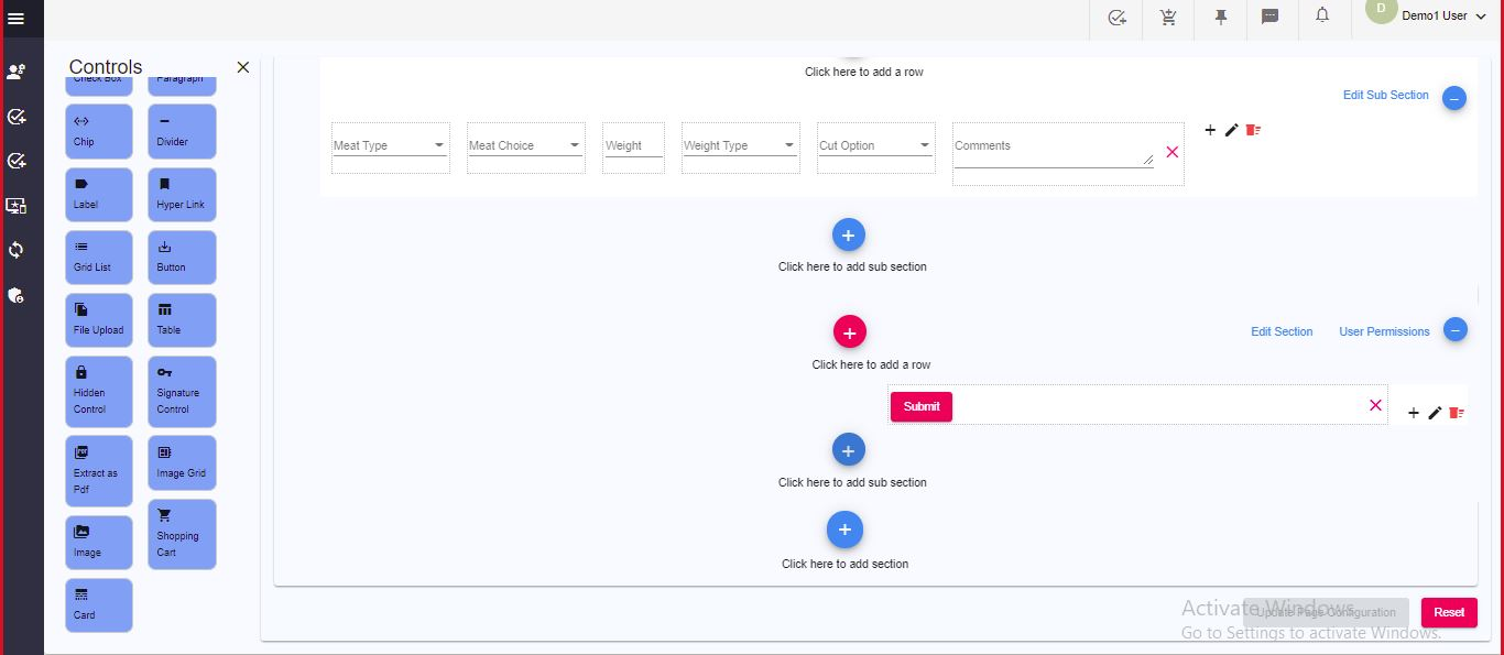 Nocode Web Page Builder
